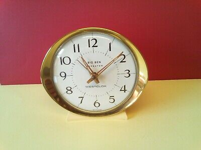 Vintage Retro Westclox Big Ben Repeater Alarm Clock Wind Up White Made Scotland • 4.99£