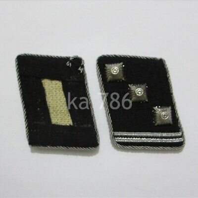 WW2 German Officer Obersturmführer Collar Tabs Kragenspiegel Repro Badge AD53A • 16.59£