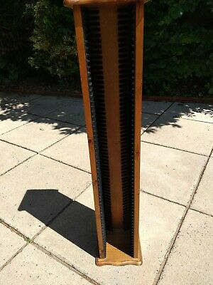 Solid Wooden CD Rack/Tower Hold 60 CD's - Good Condition • 10£