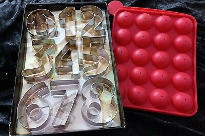 £15 • Buy 20 Hole Cake Pop Mould Chocolate Round Ball Red New