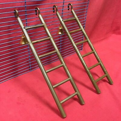 2 X Plastic Toy Ladders & Bell 11  Brown Hamsters Mice Rats Gerbil Dwarf Hamster • 8.99£