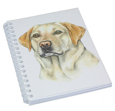 £5.69 • Buy Labrador Yellow Dog Spiral Bound Notebook 50 Blank Pages Perfect Gift