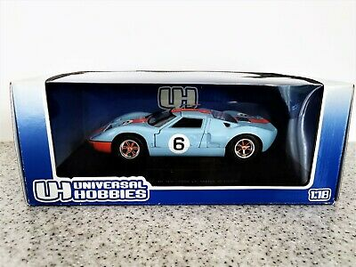 Universal Hobbies 1/18 Scale Ford Gt40 -gulf Racing Colours -1969 Le Mans Winner • 69.99£