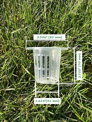 $ CDN22.40 • Buy 3  Net Cup Hydroponic Grow Slotted Mesh Pots Planting Garden Basket- 25 Pieces