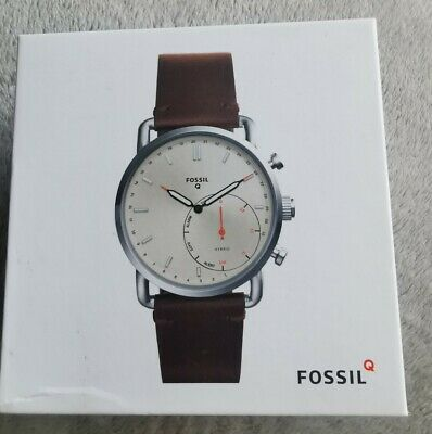 View Details Fossil Mens Brown Leather Watch Q Commuter Hybrid Smartwatch • 36.00£