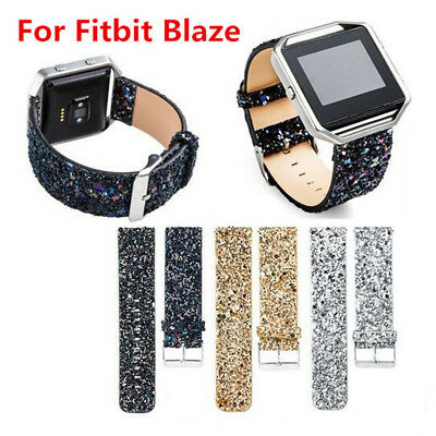 AU13.99 • Buy Leather Wrist Watch Band Sports Strap For Fitbit Blaze Tracker Bling Gift