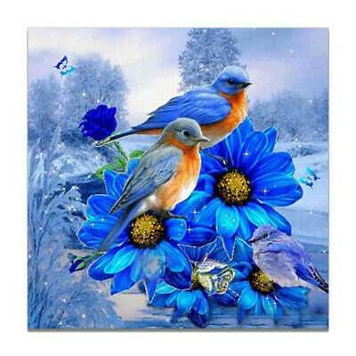AU7.79 • Buy 3D Snowfield Blue Bird Rest Canvas Art Poster Print Wall Picture Home Decor Gift