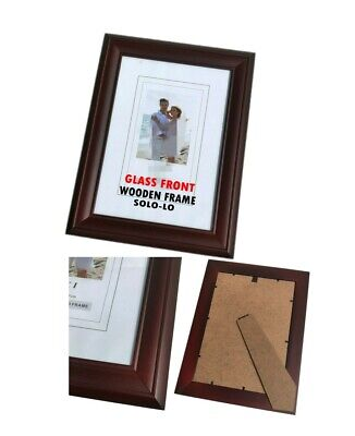 AU17.95 • Buy 3 X Burgundy Wooden 8  X 10  Timber Photo Document Certificate Picture Frame
