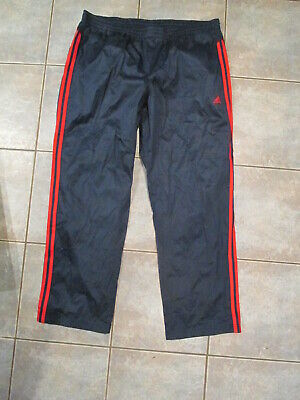 $ CDN20 • Buy Mens Adidas Climalite Windbreaker Track Pants Lined Size 2XL Blue Red Stripes