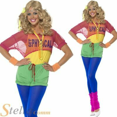 AU45.05 • Buy Womens Lets Get Physical 80s Fitness Fancy Dress Full Costume