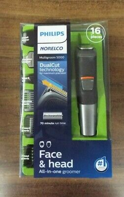AU31.35 • Buy NEW Philips Norelco 5000 Multigroom Hair Trimmer With 16 Attachments - MG5700/49