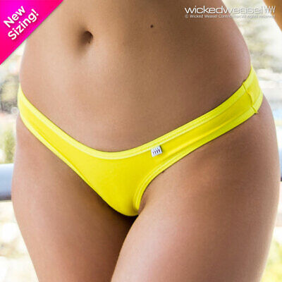 $ CDN35.25 • Buy DISCONTINUED Wicked Weasel Sexy Sunshine Yellow Stretch Cotton 682 Thong