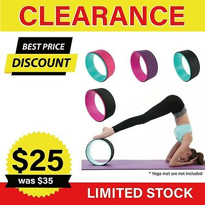 AU23.75 • Buy Yoga Wheel Muscle Relaxing Fitness Strength Back Bend Support Ring Gym Prop 13