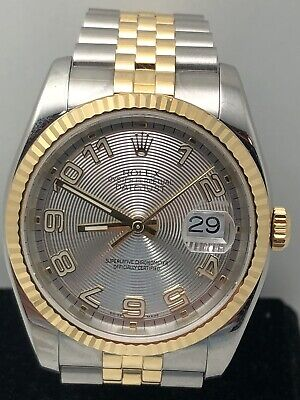 AU12999 • Buy Rolex Datejust 116233 Concentric Dial 36mm 18k Jubilee Mens Automatic Watch