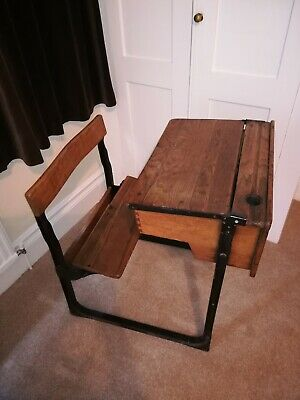 Vintage School Desk & Chair  • 20£