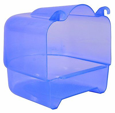 Large Blue Plastic Attachable Bird Bath For Budgie Canary Finch 15 × 16 × 17 Cm • 6.95£