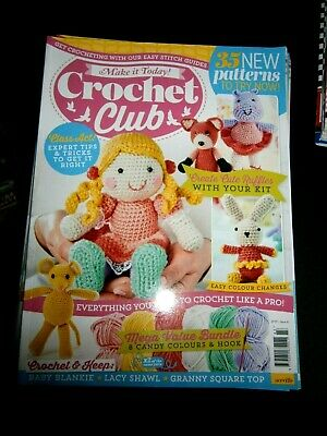 Make It Today Crochet Club Magazine Issue 43 (new) No Wool Included 2019 • 3.95£