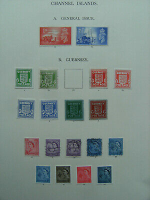 GUERNSEY Collection On Loose Album Leaves Used & Mint Incl 1941 Occupation • 7.36£