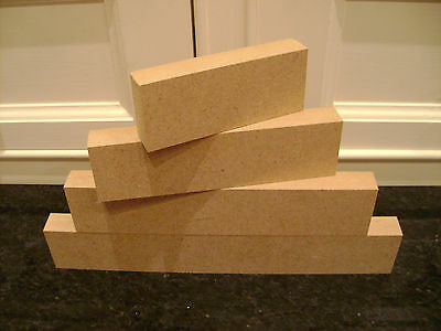 1 X Sets Of 4 Stackers MDF Free Standing Blocks 18mm Wooden Plaques • 3.75£