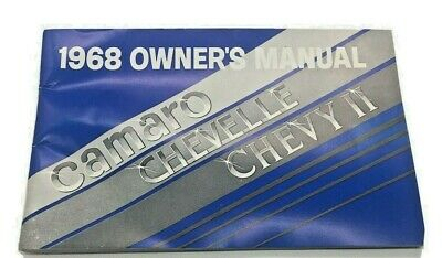 $0.99 • Buy 1968 Chevelle Camaro 1st Ed Owners Manual Original SS L78 396 302 RS Z28 Chevy 2