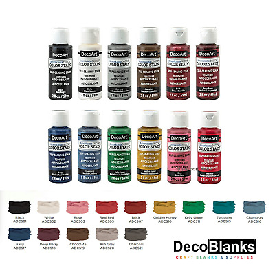 DecoArt Colour / Color Stain 2oz 59ml Pot All Colours • 3£