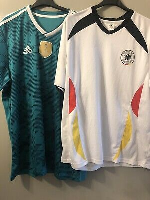 RETRO VINTAGE GERMANY Football TShirts Bundle T Shirt Large XL Fussball • 18.95£