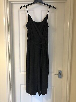 George Size 14 Black And Silver Culotte Jumpsuit • 2.50£