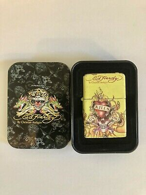 $6 • Buy Vintage Ed Hardy Lighter With Tin And Flints