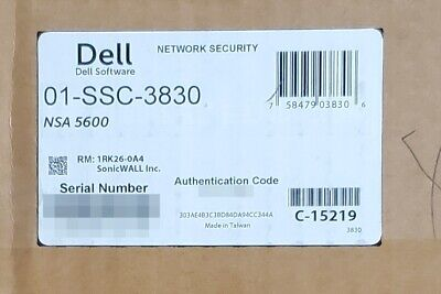 $795 • Buy Dell Sonicwall NSA 5600 Network Security Appliance Firewall 01-SSC-3830