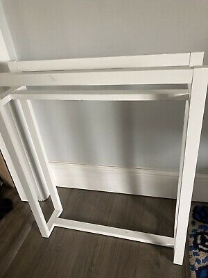 White Wooden Square Towel Stand, Homebase, Used  • 19.99£