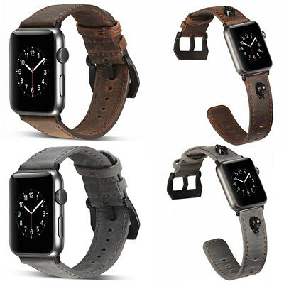 $ CDN9.43 • Buy For Apple Watch Genuine Leather Strap Wrist Band Series 4 3 2 1 40/42/44mm