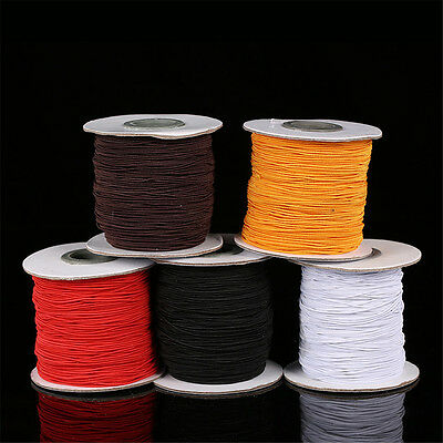 $ CDN2.76 • Buy 1mm 2mm Elastic Cord Thread For Bracelet Necklace Jewelry Making 5 Metres