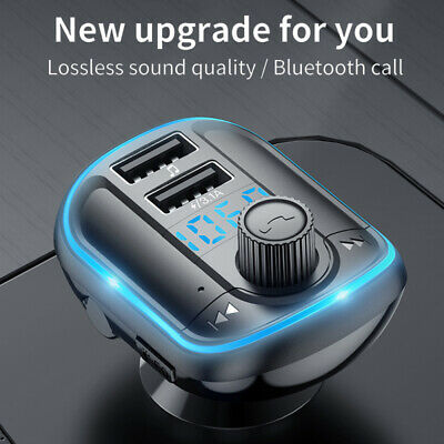AU15.99 • Buy Handsfree Wireless Bluetooth Car Kit FM Transmitter Radio MP3 Player USB Charger