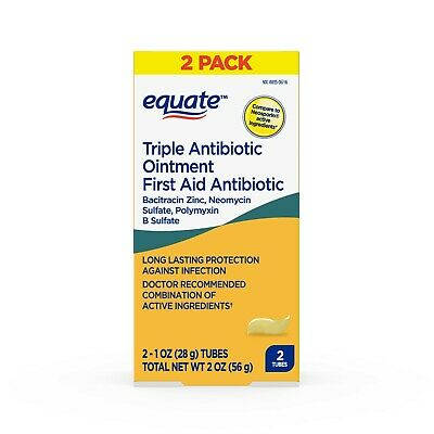 Equate Triple Antibiotic 2 Ounces (56g) Generic Neosporin, Fast Free EU Shipping • 12.36£