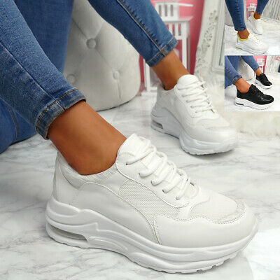 $ CDN22.78 • Buy Womens Ladies Lace Up Chunky Sneakers Party Trainers Women Sport Shoes Size