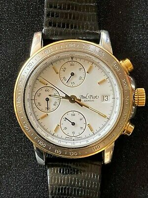 $675 • Buy Paul Picot Chronograph 23 Jewel Valjoux 7750 Movement 18k Gold And Stainless
