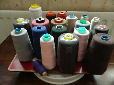 Job Lot Of Sewing Threads Various Colours Overlocker (3) • 2£