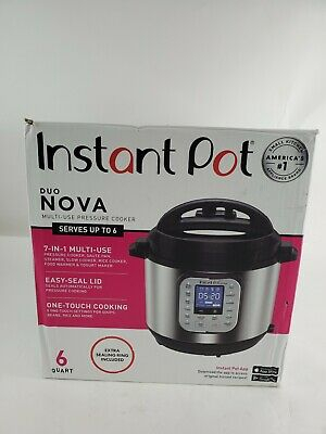 $49.95 • Buy Instant Pot Duo Nova 60 7-1 Electric Pressure Cooker,One Touch Multi Cooker 6qt