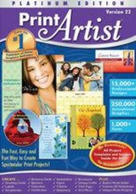 Print Artist 22 Platinum MAC CD Design Create Greeting Cards Projects Banners + • 12.76£