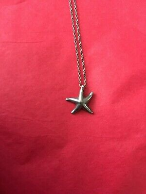 $80 • Buy  Tiffany & Co. Elsa Peretti Sterling Silver Starfish Pendant Necklace 16