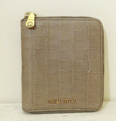 Genuine Miu Miu By Prada Purse, Fawn Croc Print Leather, Amazing Condition!  • 54.99£