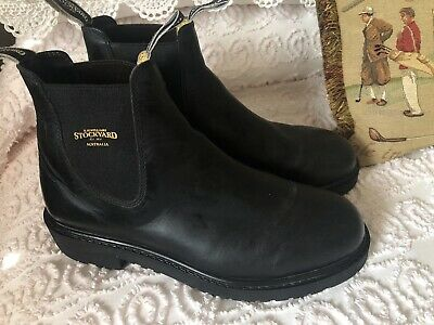 AU36.99 • Buy RM Williams Black Leather Stockyard Boots Size 9.5 Near New Condition