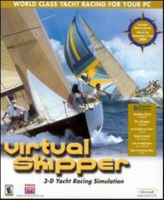 Virtual Skipper PC CD 3D Yachts Boats Racing Simulation Tournament Course Game! • 19.30£