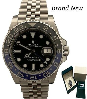 $ CDN22093.41 • Buy New Rolex GMT Master II Batman Auto Steel Jubilee 40mm 126710BLNR B&P Watch
