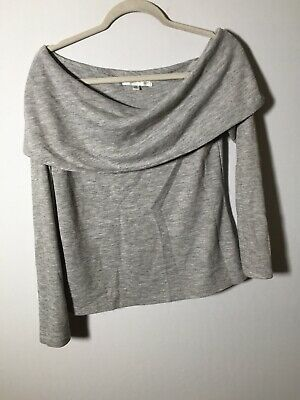 AU22.55 • Buy Forever New Womens Grey Long Sleeve Blouse Top Size M Shawl Neck