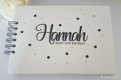 Personalised Any Age  Any Colour Birthday Guest Book / Photo Scrapbook Album  • 13.99£