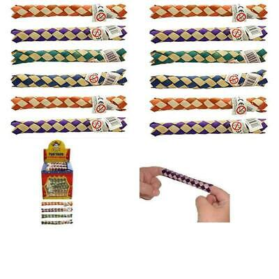 £4.99 • Buy Henbrandt 12 X Chinese Oriental Real Bamboo Finger Traps Birthday Party Bag Toys
