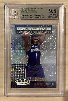$25.52 • Buy 2019-20 Zion Williamson Panini Contenders Rookie Of The Year Bgs 9.5 Gem Mint
