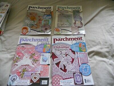 4 Parchment Craft Magazine June & July 2008; Jan & Feb 2009 • 5£