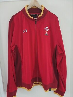 Wales Rugby WRU Track Jacket. Under Armour Red/Yellow - XXL • 7.99£